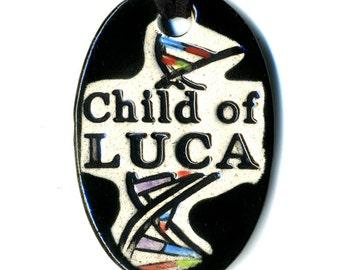 Child of LUCA Ceramic Necklace in Black