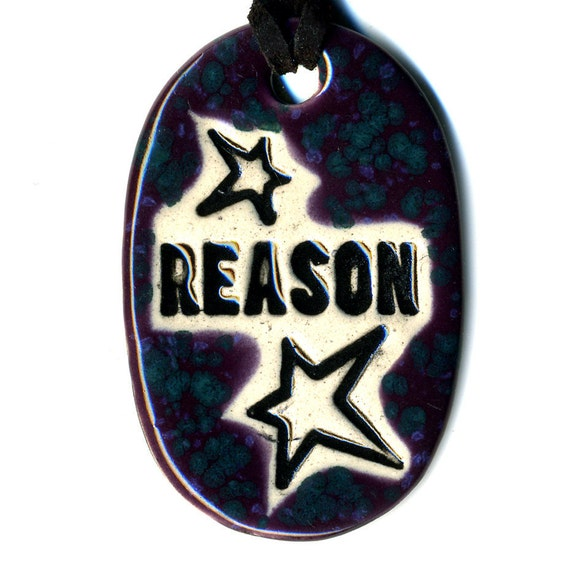 Reason Ceramic Necklace in Speckled Purple