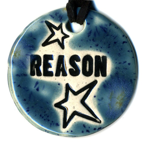 Reason Ceramic Necklace in Speckled Blue