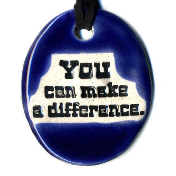 YOU Can Make a DIFFERENCE TAM 2012 Women's Grant Fundraiser Ceramic Necklace 59