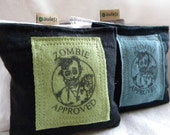 Zombie Lavender Sachets for Dryer Clothes Drawers Closets Camping Pillow Sheets Upcycled from tShirt Material SET of THREE