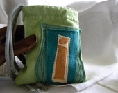 Small Initial Pouch Custom ONE repurposed t shirt sleeve CHOOSE COLORS