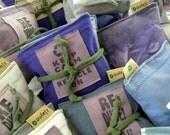 Lavender Sachets DOZEN Mixed Sets Dryer Pillow Sheet Sachets each a SET of THREE
