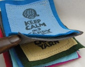 Keep Calm and Carry Yarn PATCHes FIVE Pieces and Parts PATCH