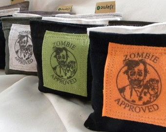 Zombie Sachets for Dryer Clothes Drawers Closets Camping Pillow Sheets Upcycled from tShirt Material SET of THREE