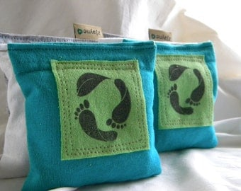Carbon Footprint Lavender Sachets for Dryer Clothes Drawers Closets Camping Pillow Sheets Upcycled from tShirt Material SET of THREE