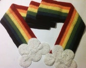 Rainbow Scarf with Clouds