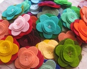mini felt flower brooches - custom order for angedoux