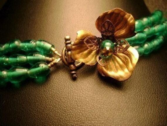 Blue Dogwood Necklace