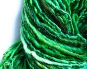 Tree agate handspun handdyed wool yarn