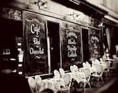 Vintage Paris Cafe -Paris, France. 8x10 original photo