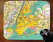New York City Map - Decorative Mouse Pad for Home or Office