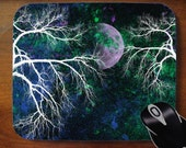 Purple Moon -- Decorative Mouse Pad Mousepad for Home or Office