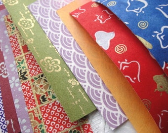 LAST Japanese washi Chiyogami Paper 35 pieces 10 by 3cm SET A