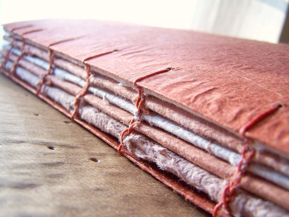 Beautiful Handmade Paper - Journal /  Photo Album / Sketchbook Paperback Great Texture