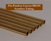 CLEARANCE BRASS Custom Big Hole Beads Tubing SIX Pack