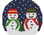 Ornament Friends, bead pattern for loom or peyote