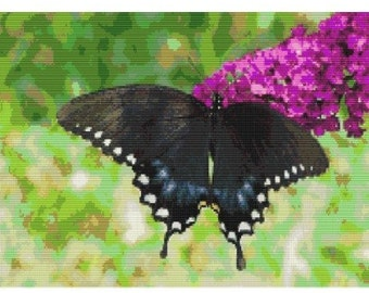 Black Swallowtail, pattern for loom or peyote