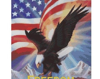 Freedom Eagle, bead pattern for loom or peyote