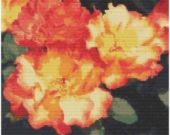 Rose Playboy, pattern for loom or peyote