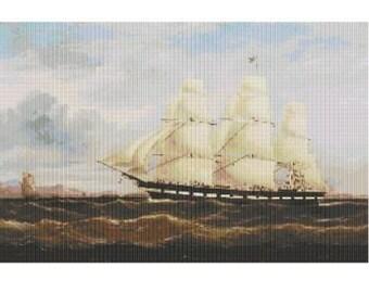 Ship William Tapscott, pattern for loom or peyote