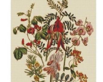 Antique Flower 1, bead pattern for loom or peyote