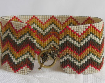 Fall Bargello bracelet