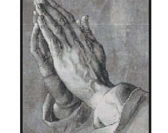 Praying Hands by Albrecht Durer,bead pattern for loom or peyote
