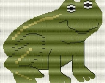 My Frog, bead pattern for loom or peyote