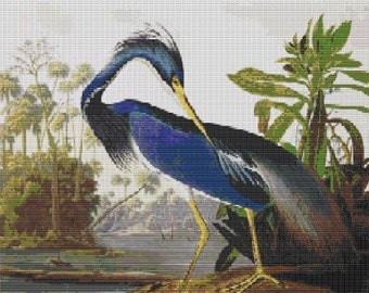 Louisiana Heron, pattern for loom or peyote
