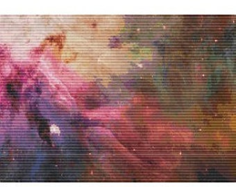 Hubble Orion Nebula,  pattern for loom or peyote