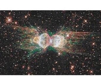 Hubble Ant Nebula, bead pattern for loom or peyote
