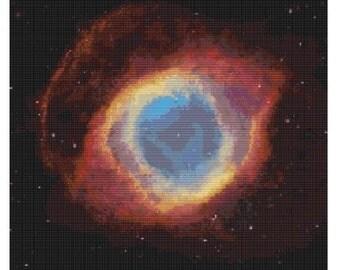 Hubble Helix Nebula,bead pattern for loom or peyote