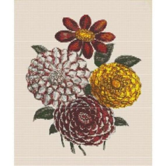 Antique Flower 3 Bead Pattern For Loom Or Peyote