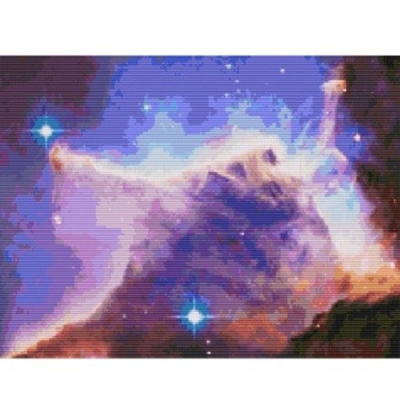Hubble Eagle Nebula Pillar, pattern for loom or peyote