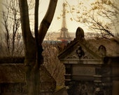 The Eiffel Tower (La Tour Eiffel) from Pere Lachaise Cemetery