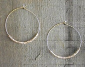 JUST HOOPS EARRINGS--gold square or silver cut glass beads