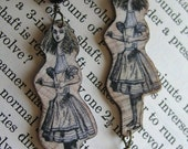 Tall Alice In Wonderland Earrings
