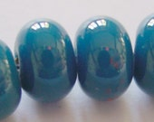 Handmade Opaque Blue Steel Lampwork Spacer Beads - New colour