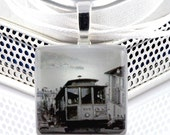 Cable Car... San Francisco - ECO-friendly Glass Photo Necklace