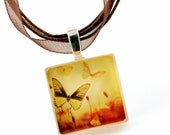 The Butterfly Garden - ECO-friendly Glass Photo Necklace