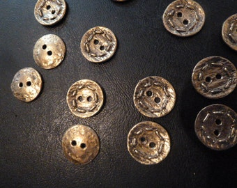 Metal Vintage Buttons Twenty Five