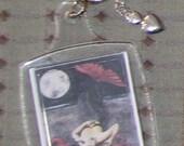 Full Moon, Empty Heart Hand Assembled Fantasy Adorned Keychain
