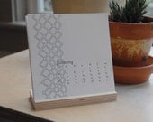 2009 letterpress calendar- ON SALE