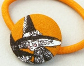 Halloween Witch Ponytail Elastic covered button