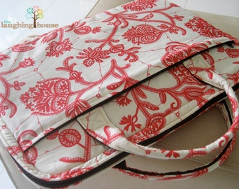 Laptop Sleeve w Front Zippered Pocket (Your Choice of Fabric)
