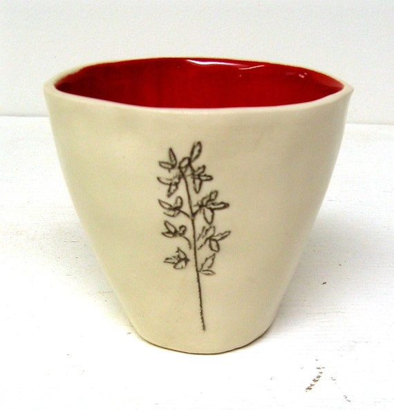 sprig cup in red