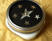 Soy Canning Jar Candle With Primitive Stars Lid Cutouts
