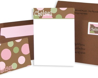 Girly Polka Dot Stationery