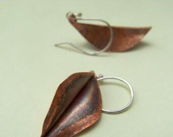 Fold formed Leaves Earrings